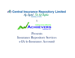e-Insurance Account - Achiievers Equities Ltd