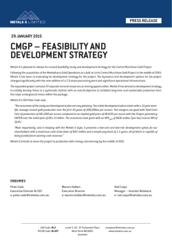 cmgp – feasibility and development strategy