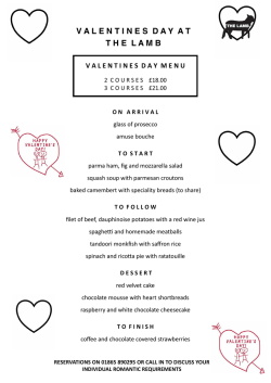Valentines Day - The Lamb Chalgrove