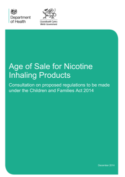Nicotine Inhaling Products - Age of Sale - Consultation