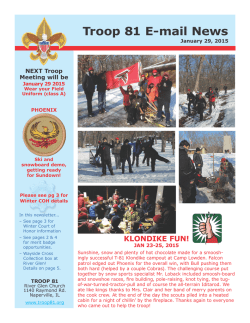 Troop 81 E-mail News