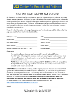 Your UCI Email Address and UCInetID