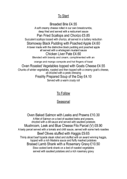 View our Evening Menu