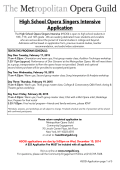 HSOSI Application 2015 - The Metropolitan Opera Guild