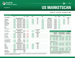 US Marketscan and Platts