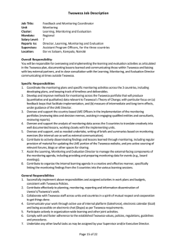Monitoring and Feedback Coordinator