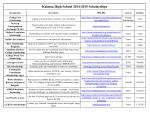 Kalama High School 2014-2015 Scholarships