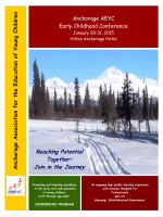 2015 Conference Program Book - Anchorage Association for the