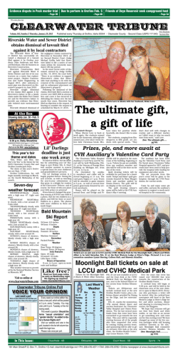 January 29, 2015 Front Page