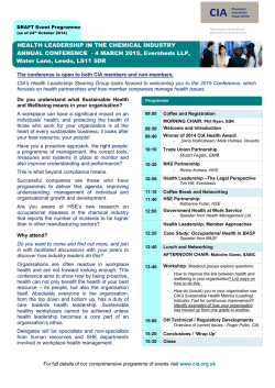 4 March 2015 - Health Leadership Conference