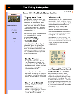 2015 - Greater Milford Area Historical Society