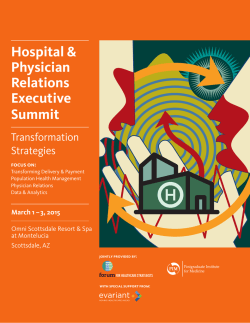 Conference Brochure - Healthcare Strategy Institute