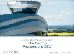 John Crichton President and CEO