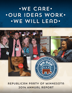 MNGOP 2014 Report - The Republican Party of Minnesota