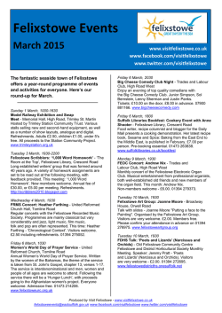 March 2015 Events - Suffolk Coastal District Council