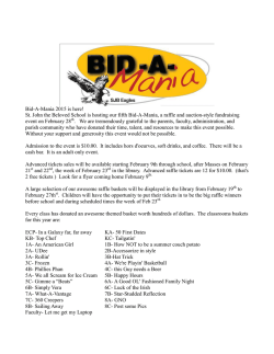 Bid-A-Mania 2015 is here! - Saint John the Beloved School