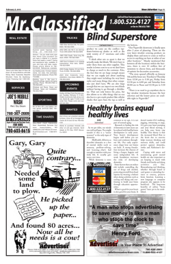 VNA February 02, 2015.indd - Vegreville News Advertiser