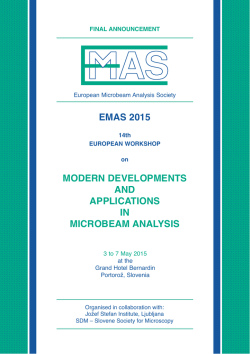 Final Announcement - European Microbeam Analysis Society