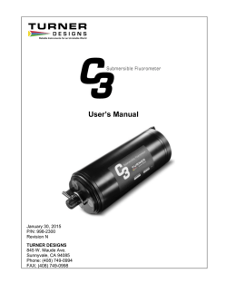 C3 User Manual - Turner Designs