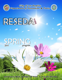 Spring 2014 Brochure - City of Los Angeles Department of