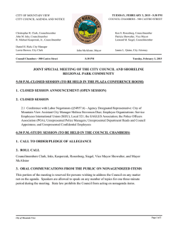 2015-02-03 Council Agenda Packet