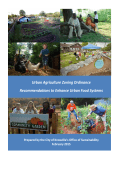 Urban Agriculture Initiative - Zoning Ordinance