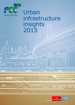 Urban infrastructure insights 2015