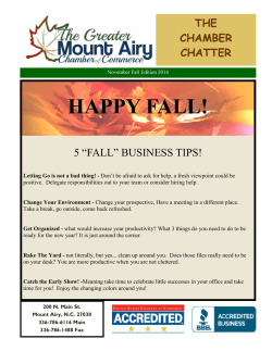 November - Greater Mount Airy Chamber of Commerce