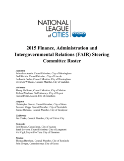 2015 Finance, Administration and Intergovernmental Relations (FAIR)