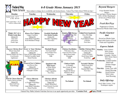 6-8 Grade Menu January 2015 - Federal Way Public Schools