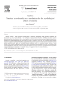 Transient hypofrontality as a mechanism for the psychological