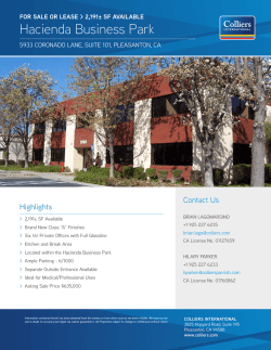 Hacienda Business Park - Colliers International