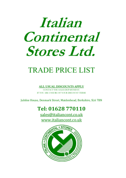 to download a PDF version of our price list
