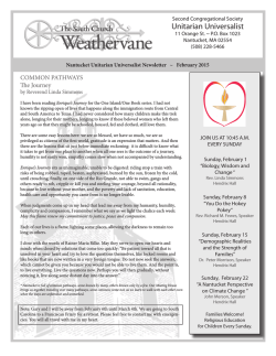 February 2015 Weathervane - Nantucket Unitarian Universalists