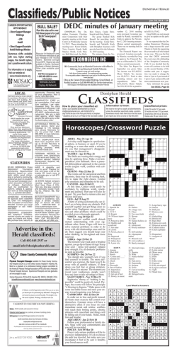 Classifieds/Public Notices DONiPhAN HERAld