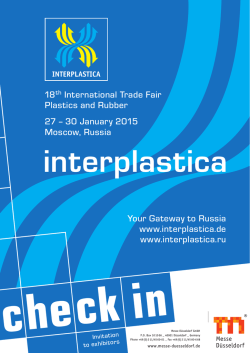 Check in brochure 2015 - interplastica Trade Fair