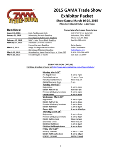 2015 GAMA Trade Show Exhibitor Packet