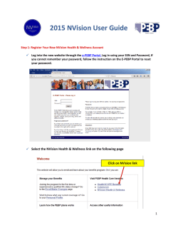 2015 NVision User Guide