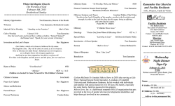 Bulletin - White Oak Baptist Church