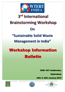 "On ""Sustainable Solid Waste Management in India"