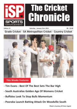 The Cricket Chronicle - ISP Sports Management