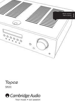 Topaz SR20 Users Manual English