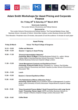 Asset Pricing - London School of Economics and Political Science