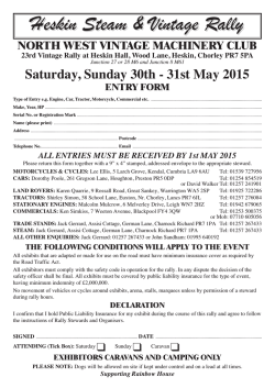 NWVMC Entry Form 2015