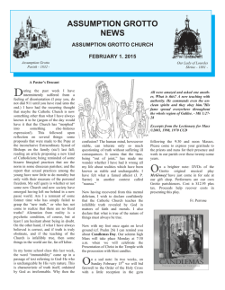 This Weeks Bulletin - Assumption Grotto Church