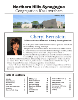 February Bulletin - Northern Hills Synagogue