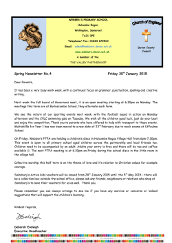 30th January 2015 - Webbers C Of E Primary School