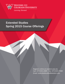 Spring 2015 Extended Studies Course Catalog