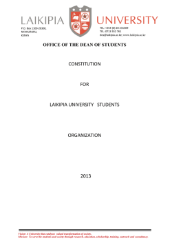 CONSTITUTION FOR LAIKIPIA UNIVERSITY STUDENTS
