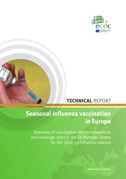 Seasonal influenza vaccination in Europe